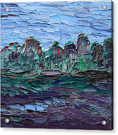 Acrylic Print featuring the painting Dance In The Rain by Vadim Levin