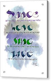 Dance Acrylic Print by Judy Dodds
