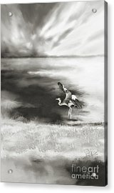 Acrylic Print featuring the digital art Dance Like Nobody's Watching by Lois Bryan