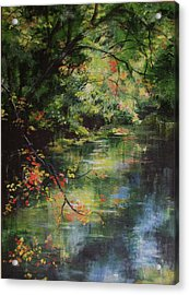 Dance Of Color And Light Acrylic Print by Mary Wolf