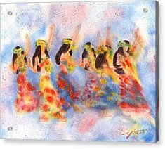 Dance Of Paradise Acrylic Print by John YATO