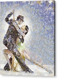 Dance Of Romance Acrylic Print by Shirley Stalter