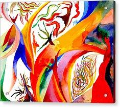 Dance Of Shaman Acrylic Print by Peter Shor