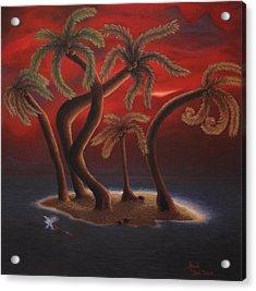 Dance Of The Coconut Palms Acrylic Print by Amanda Clark