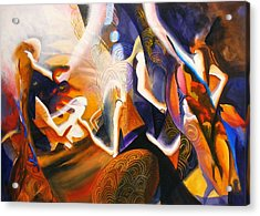 Dance Of The Druids Acrylic Print by Georg Douglas