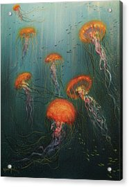 Dance Of The Jellyfish Acrylic Print by Tom Shropshire