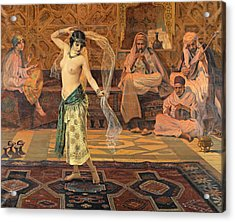 Acrylic Print featuring the painting Dance Of The Seven Veils by Otto Pilny