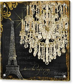 Acrylic Print featuring the mixed media Dance The Night Away 1 by Audrey Jeanne Roberts
