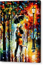 Dance Under The Rain Acrylic Print