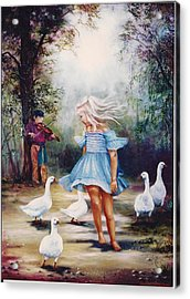 Dance With Me Acrylic Print by Naomi Dixon