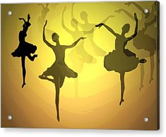 Dance With Us Into The Light Acrylic Print by Joyce Dickens