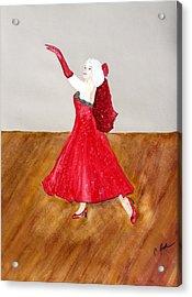 Dancer Acrylic Print by Cathy Jourdan