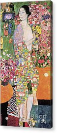 Dancer Acrylic Print by Gustav Klimt