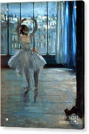 Dancer In Front Of A Window Acrylic Print by Edgar Degas