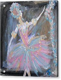 Dancer In Pink Tutu Acrylic Print by Judith Desrosiers