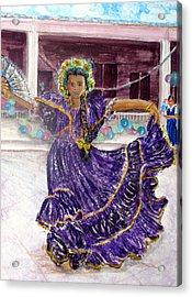 Dancer In Purple Acrylic Print