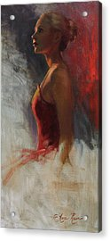 Dancer In Rim Lighting Acrylic Print