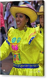 Dancer In The Pase Del Nino Parade Iv Acrylic Print