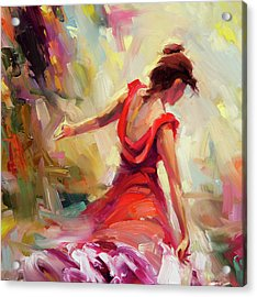 Acrylic Print featuring the painting Dancer by Steve Henderson