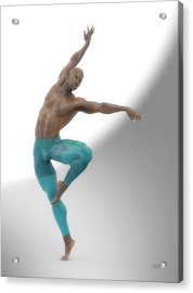 Dancer With Blue Leotard Acrylic Print by Joaquin Abella