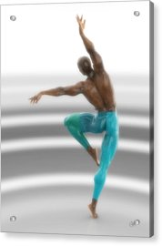 Dancer With Blue Leotards Acrylic Print by Joaquin Abella