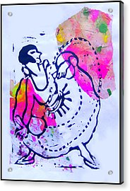 Dancer With Cord Acrylic Print by Adam Kissel