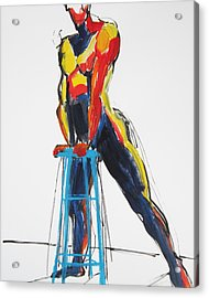 Dancer With Drafting Stool Acrylic Print by Shungaboy X