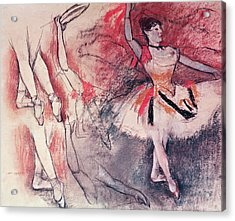 Dancer With Tambourine Or Spanish Dancer Acrylic Print by Edgar Degas