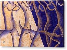 Dancers - Study 12 Acrylic Print by Caron Sloan Zuger