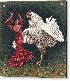 Dancers El Gallo Acrylic Print by Holly Wood