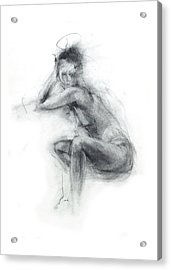 Dancer's Gaze Acrylic Print by Christopher Williams