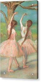 Dancers In Pink Acrylic Print by Edgar Degas