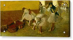 Dancers In The Green Room Acrylic Print by Edgar Degas