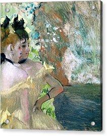 Dancers In The Wings  Acrylic Print by Edgar Degas