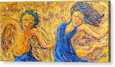 Dancers Acrylic Print by Kat Griffin