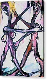 Dancers Acrylic Print by Kenneth Agnello