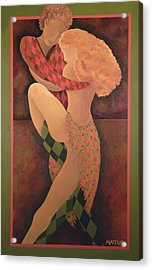 Acrylic Print featuring the painting Dancers by Leslie Marcus