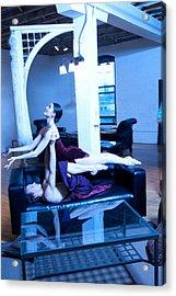 Dancers Acrylic Print by Michael Furlow