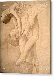 Dancers Acrylic Print by Sarabeth Kett