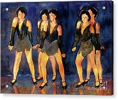 Dancers  Spring Glitz     Acrylic Print