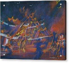 Dancin Acrylic Print by Howard Stroman