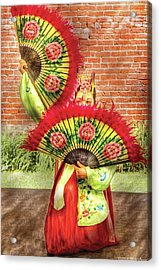 Dancing - The Fan Dance Acrylic Print by Mike Savad
