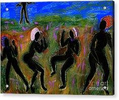 Dancing A Deliverance Prayer Acrylic Print by Angela L Walker