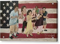 Dancing Americans Acrylic Print by Saundra Johnson