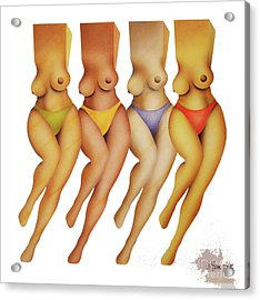 Dancing Bears Acrylic Print by Bob Winberry