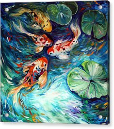 Dancing Colors Koi Acrylic Print