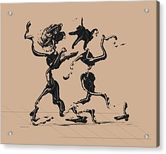 Dancing Couple 1 - Hazelnut Acrylic Print