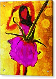 Dancing Days - Pa Acrylic Print by Leonardo Digenio