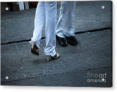 Dancing Feet At The Dominican Republic Son Party Number One Acrylic Print by Heather Kirk