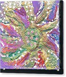 Dancing Flower Blossom Acrylic Print by Anne-Elizabeth Whiteway